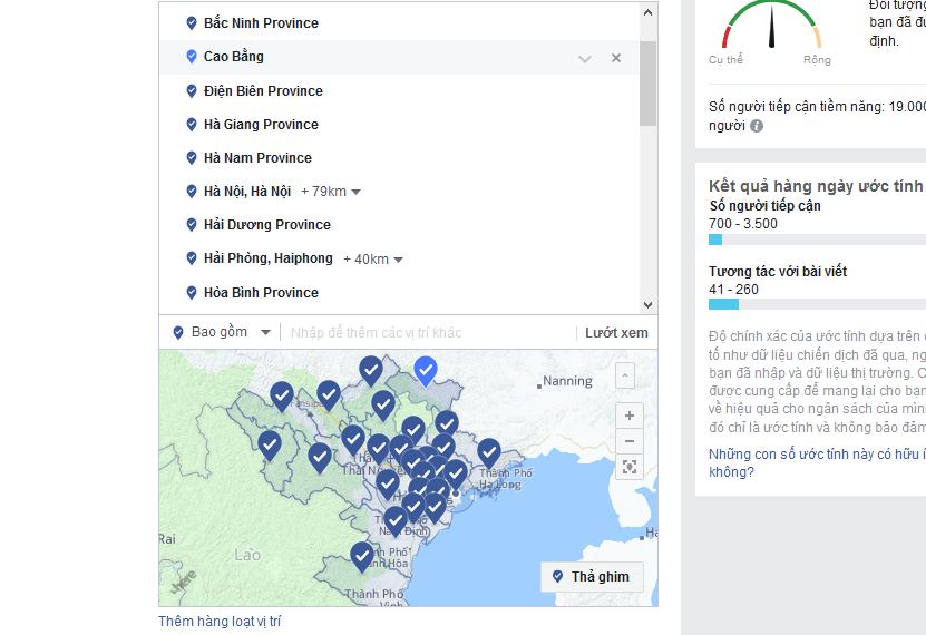 Cách Target Facebook Ads theo vùng miền cực chuẩn xác !