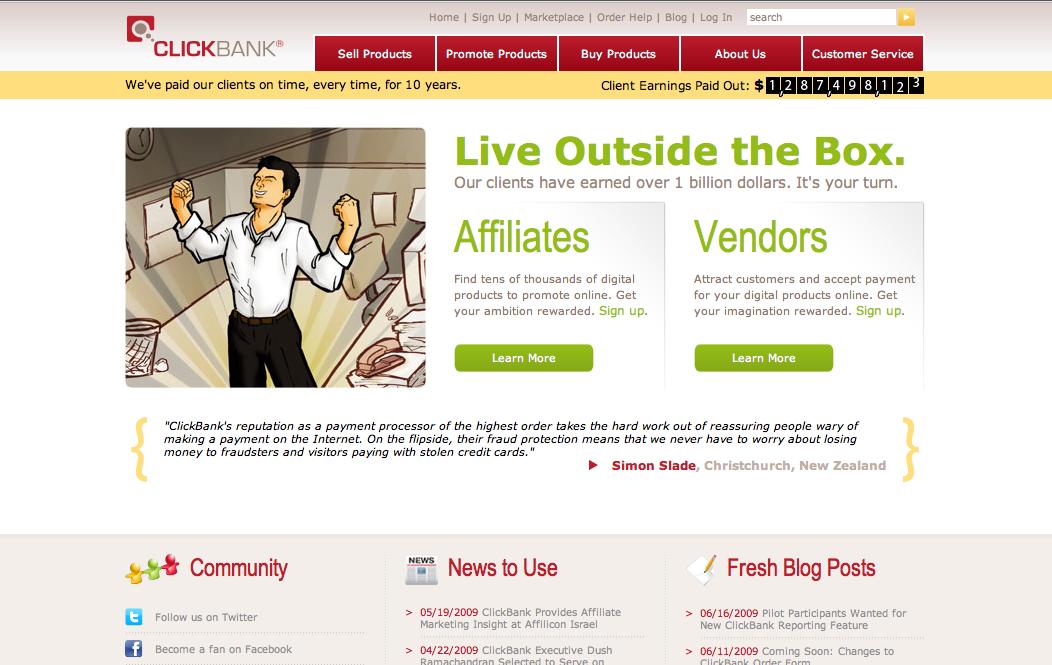ClickBank join up for free 2 - Xem ngay 44 ý tưởng đầu tư kinh doanh ít vốn lãi cao