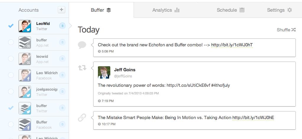 công cụ marketing online Buffer