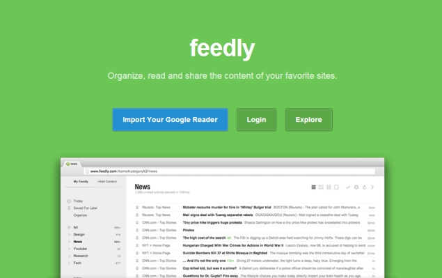 công cụ marketing online Feedly