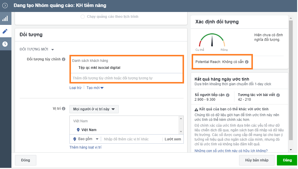 tep tuy chinh - Tệp đối tượng tùy chỉnh không hiển thị đối tượng - Facebook cập nhật hay là lỗi ?