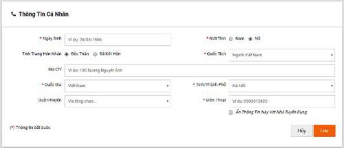 Đăng ký hồ sơ online