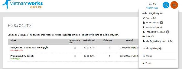 Hoàn thành hồ sơ online